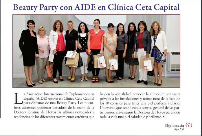 Beaty Party con AIDE en Clínica Ceta Capital: Revista Diplomacia
